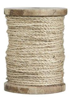 Jute touw op houten klos  Madam Stoltz -50%