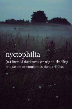 love of darkness.