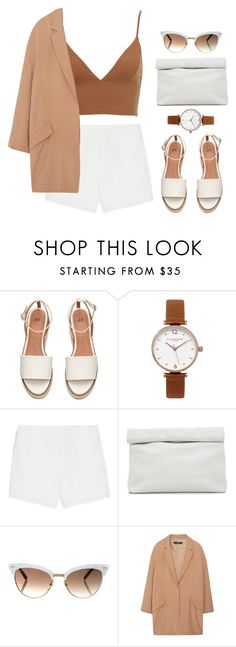 """""""Brown"""" by stylesadriana ❤ liked on Polyvore featuring Olivia Burton, T By Alexander Wang, Marie Turnor, Gucci and MANGO"""