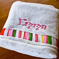 Personalized Baby Blanket by MaeandMeDesigns on Etsy, $27.00