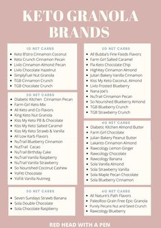 Who knew there were so many keto granola brands that are such low in net carbs! There are SO many keto friendly granola options below 4g net carbs per serving! Keto Snacks To Buy, Good Keto Snacks, Chocolate Crunch, Keto Chocolate Chips, Almond Farm, Granola Brands, Sweet Fat Bombs, Blueberry Crunch, Best Keto Breakfast