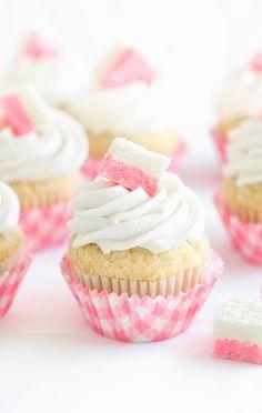 Coconut Ice Cupcakes | Sprinkle Bakes