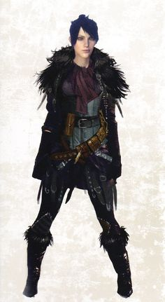 """Morrigan concept art from official """"The Art of Dragon Age: Inquisition"""""""