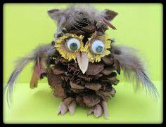 Pinecone Crafts: DIY pinecone owl