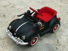 Vintage Pedal Car - VW Beetle - Refurbished original matt black