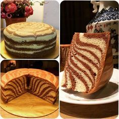 Learn How to Make Your Own Homemade Zebra Cake Cake Recipes and Tasty