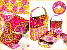 ScrapBusters: Two-Tone Gift Bags in Three Sizes | Sew4Home