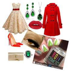 """""""Christmas tree"""" by boiicosmetics on Polyvore featuring Christian Louboutin, BERRICLE, Bling Jewelry, Yves Saint Laurent and Christmas"""