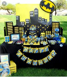 Batman birthday candy table