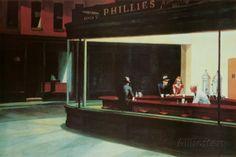 Yökyöpelit, n. 1942 Julisteet tekijänä Edward Hopper AllPosters.fi-sivustossa