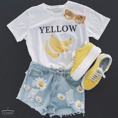 Imagen de yellow, outfit, and style