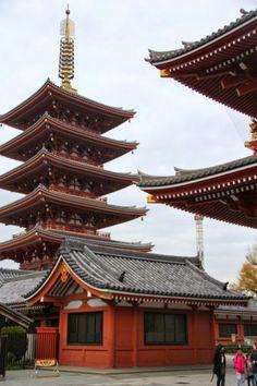 Sensōji Temple - Tokyo, Japan Mosques, Cathedrals, Japanese Temple, Tokyo Japan, Asia Travel, Temples, Big Ben, Travel Destinations, Bucket