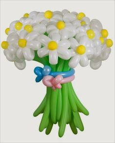 Open Craft blog | Share all we have: How to make an easy balloon flower bouquet