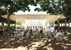 Centro de visitantes na face sul da Apple Campus 2