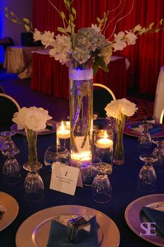 These centerpieces have become a favorite among new inquiries! Lovely centerpiece, heavy on the florals which we crafted for a 25th anniversary vow renewal celebration! Wedding and Event Planning, Design and Coordination serving the DMV and metro NY/NJ areas! Contact us for a complimentary consultation!