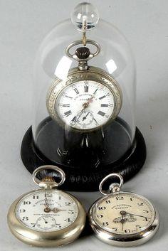Three antique pocket watches patent Rosskopf Pocket Watch Antique b650ddf96a