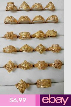 Wholesale lot of Different Assorted Indian GoldPlated Brass Rings Silver Anklets Designs, Anklet Designs, Gold Ring Designs, Gold Bangles Design, Gold Earrings Designs, Gold Jewellery Design, Arabic Jewelry, Indian Jewelry, Gold Rings Jewelry
