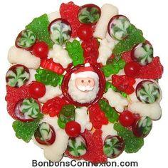 Christmas candy pizza - Pizza bonbons de Noël #christmascandy # bonbonsnoel