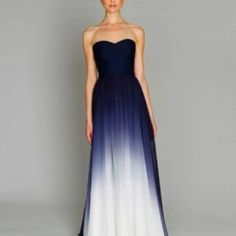 Ombre dress-wish it was modest! But perfect for an evening for some special occasion