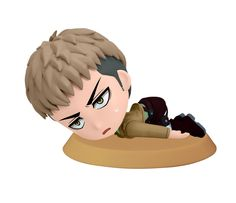 Amazon.com: Banpresto Attack on Titan 2.4-Inch Jean Chibi-Kyun-Chara Figure, Training Version: Toys & Games