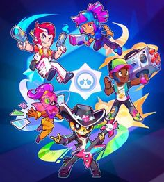 Brawl Stars Hack Cheats - Get Free resources Star Character, Character Design, Star Illustration, Star Wallpaper, Clash Royale, Cartoon Games, Star Art, Animal Quotes, Game Art