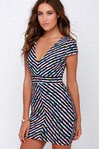 When Worlds Kaleidoscope Black Print Dress at Lulus.com!