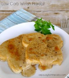 Low Carb Welsh Rarebit - comforting dish for the winter. LCHF and Keto recipe with low carb bread. from Step Away From The Carbs https:. Best Low Carb Recipes, Sugar Free Recipes, Diet Recipes, Vegetarian Recipes, Favorite Recipes, Low Carb Bread, Low Carb Diet, Rarebit Recipes