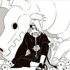 Deidara is one of my fav Akatsuki members Anime Naruto, Naruto Shippuden Anime, Naruto Drawings, Cool Drawings, Boruto, Manga Art, Manga Anime, Deidara Akatsuki, Deidara Wallpaper