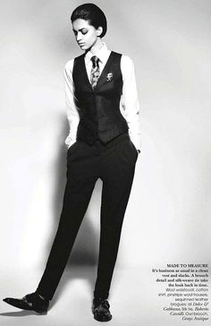 Girls in Suits: Photo `.Jyothsna Chakravarthy in Vogue India, November Queer Fashion, Androgynous Fashion, Tomboy Fashion, Suit Fashion, Fashion Outfits, Androgyny, Girl Fashion, Estilo Dandy, Estilo Tomboy