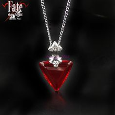 Looking to cosplay Tohsaka Rin from Fate Stay Night? Be sure to get yourself this necklace to complete the whole package! This beautiful pendant necklace is perfect for cosplay and also simply as a co