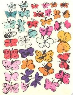 Butterflies print by Andy Warhol