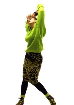 """Madonna wearing Vivienne Westwood """"Witches"""" collection Keith Haring skirt and pirate boots, circa 1983. She wears this same skirt in the Borderline video."""