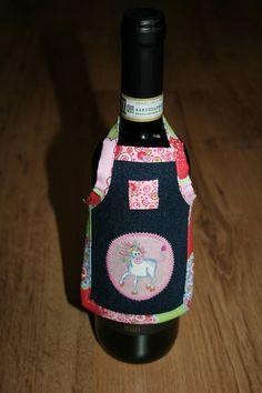 Spüli Schürze Kleid für Weinflaschen Crazy Unicorn