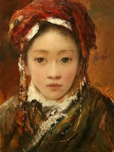 'Young Bride'  by Tang Wei Min (唐伟民; b1971; Yong Zhou, Hunan Province)