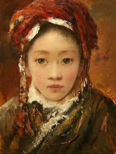 'Young Bride'  by Tang Wei Min (唐伟民; b1971; Yong Zhou, Hunan Province)
