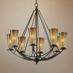 "El Nido Collection Mocha Bronze 29"" High 8-Light Chandelier - #T1241   LampsPlus.com"
