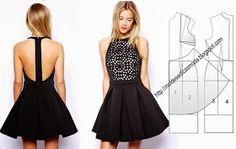 moldes de vestidos strapless - Buscar con Google