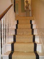 Bleached Coir carpet with black border