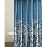 Found it at Wayfair - Branches Shower Curtain in Blue