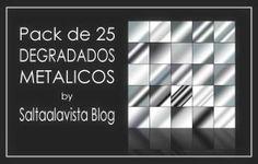 Descarga Gratuita - Pack de 25 Degradados Metálicos