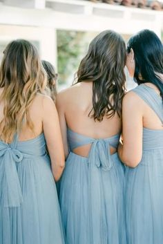 """This Is Exactly What We See When Picturing a """"Secret Garden"""" Wedding Theme and We're Obsessed. Garden Wedding, Tulle, Fashion, Group Photos, Wedding Bridesmaids, Grey And White, Blue, Moda, Fashion Styles"""