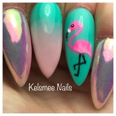 Flamingo, Loveness Magic Unicorn & ombre Turquoise/ pink nails