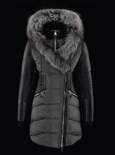a8311e16322c Nicole Benisti Corset Waist Leather and Down Parka in Black with Black – Saratoga  Saddlery   International Boutiques