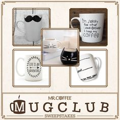 To celebrate our love of coffee, we're giving you a chance to win a Mr. Coffee® Single Cup K-Cup® Brewing System and your favorite mug from Etsy! Visit https://www.facebook.com/mrcoffee/app_600948003314659?ref=ts  to enter our Pinterest sweepstakes for your chance to win. Sweepstakes ends 4/10/15. #MrCoffee #Coffee #MugClub #Love #Sweepstakes #pintowin [Promotional Pin]