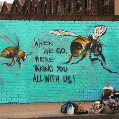70 of the top 100 human food crops are pollinated by bees...if they go, we'll have our work cut out for us...