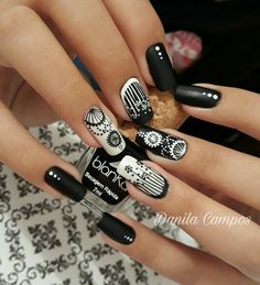 Funky Nail Art, Funky Nails, Trendy Nail Art, Cute Nails, Pretty Nails, Henna Nails, Aycrlic Nails, Red Nails, Swag Nails