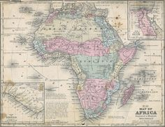 pre colonial map of Africa African States, African Tribes, Vintage Maps, Antique Maps, Tanzania Africa, Colonial, Old Book Art, Africa Map, South Africa