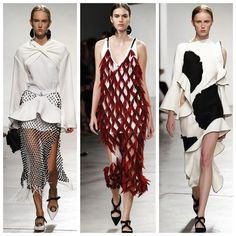 Last night at #nyfw, the #proenza boys displayed an audacious collection full of #flamenco influences and #inventive use of #texture. We love it.  #proenzaschouler #fashion #ss16 #fashionweek #newyork #fashiondesign #runway #rtw #spring2016