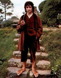hobbit: a member of a race of imaginary creatures related to and resembling humans, living in underground holes and characterized by their good nature, diminutive size, and hairy feet