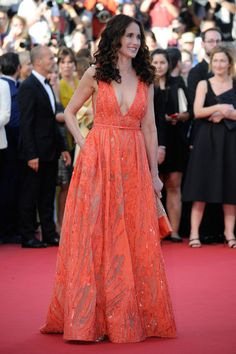 Andie MacDowell in Elie Saab. See all the best looks from the 2015 Cannes Film Festival.